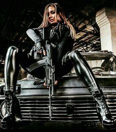 Top 20 Military Busty Girls's Beautiful Wallpapers of 2019 Latex Cosplay, Elfa, Shooting Guns, Female Soldier, Warrior Girl, Military Women, Russian Fashion, Badass Women, Airsoft