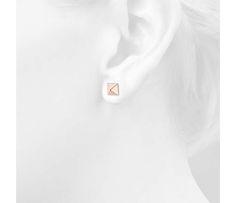 Pyramid Stud Earrings in 14k Rose Gold