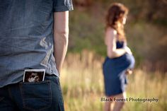 Maternity portraits in Colorado Springs at Garden of the Gods. Love the ultrasound picture used as part of the photo. By: http://www.blackforestphoto.com #maternityportraits #pregnancyportraits #maternityphotography