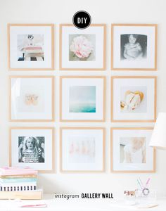 Photography : SMP LivingRead More on SMP: http://www.stylemepretty.com/living/2016/01/25/diy-instagram-gallery-wall/