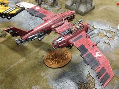 a very cool twin hulled Ork plane. starting to think that i might need to make a 'Sky Pirate' army for Orkpocalypse!