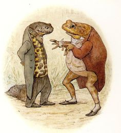 SIR ISAAC NEWTON wore his black and gold waistcoat, …  Beatrix Potter, The Tale of Mr. Jeremy Fisher (London: Frederick Warne [1906])