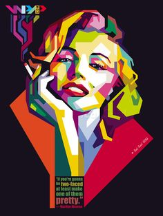 IcalSaid marilyn monroe in WPAP by IcalSaid in Wedha's Pop Art Portrait