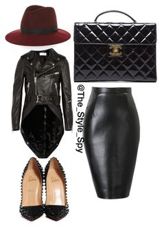 """Black out"" by style-spy on Polyvore featuring Yves Saint Laurent, Christian Louboutin, Chanel and rag & bone"