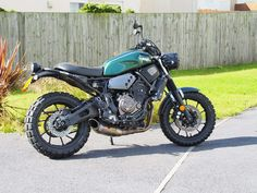 XSR700 Evotech tail tidy Evotech headlight guard Akrapovic exhaust Yamaha rad covers Single seat  Twinduro tyres