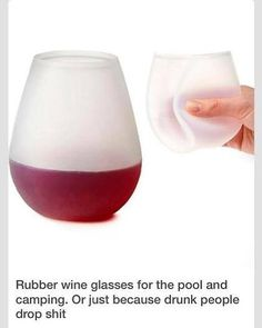 Rubber Wine Glasses?!