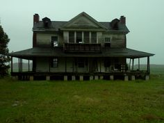 One of my most favorite homes I love the symmetry. And my son once fell through the floor while exploring.