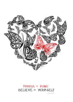 Check out Believe in Yourself by Amber Smith at New Zealand Fine Prints Nz Art, Art For Art Sake, Maori Words, Maori Symbols, Polynesian Art, Maori Designs, New Zealand Art, Maori Art, Kiwiana