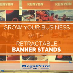 Trade show booths on a budget!  The best way to create a booth that stands out is by using Retractable Banner Stands!  Learn more at our site. #marketing #advertising #tradeshow
