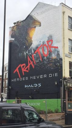 "Halo 5 London Mural - ""Traitor"" (x-post from /r/halo)"