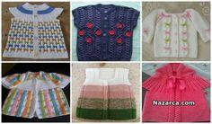 71-tane-orgu-bebek-yelegi-modelleri Baby Knitting Patterns, Baby Patterns, Baby Cardigan, Baby Vest, Crochet Baby, Knit Crochet, Knitting Videos, Crochet Shoes, Tunisian Crochet