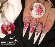 BrillBird designs - white and pink hearts