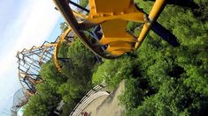 Batman front seat on-ride HD POV Six Flags Great America