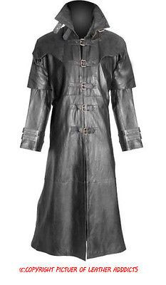Mens real #black leather goth matrix trench coat #steampunk gothic van #helsing(t,  View more on the LINK: 	http://www.zeppy.io/product/gb/2/271295828963/