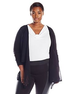 Nice DKNYC Women's Plus-size Sheer Pieced Covering
