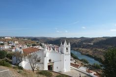 Mezquita-Igreja Mértola: A former Almohad Mosque of Mertola which has been transformed to a church since cent AD Mosque, Mansions, Architecture, House Styles, Arquitetura, Villas, Mosques, Palaces, Mansion