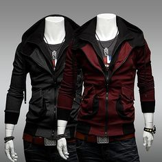 Mens Assassins Style Waterproof Hoodie HD23