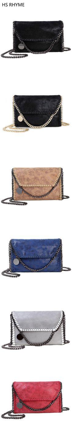 HS RHYME Women Messenger Bags Pu Fashion Portable Evening Chains Hobo Borsa Shoulder Clutch Bolso Female Carteras Mujer Handbags