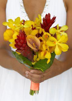 Local Jamaican flowers ~ #Caribbean #Wedding