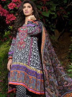 Umar Sayeed Lawn 2015 10 - B 3 Piece Embroidered Lawn suit