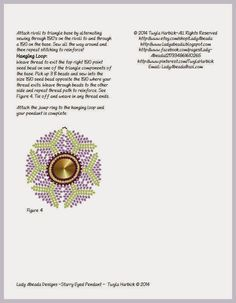 Bead Mavens: Tutorial Starry Eyed Pendant ~ Twyla