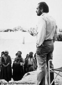 American film director Martin Scorsese on the desert set of his film, 'The Last Temptation of Christ,' 1988