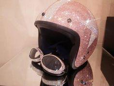 Bling Pink Crystal helmet strass w/ Swarovski Crystal element on Etsy, $299.99