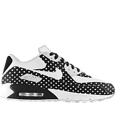 Black and white Polkadot Nike Air Max 90 Nike Air Max, Air Max 90, Cute Sneakers, Sneakers Nike, Sneaker Women, Yeezy, Stilettos, Baskets, Nike Free Runs