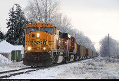 RailPictures.Net Photo: BNSF 8836 Burlington Northern Santa Fe EMD SD70MAC at Bay City, Michigan by Joshua Dudinetz