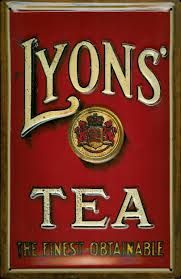 'Lyons' Tea ... The Finest Obtainable' tin advertising sign, c. late 19th-early 20th century, enamel on metal, UK ... likely a reproduction