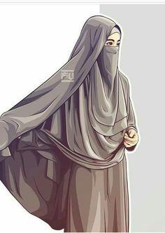 I love hijab . Hijabi Girl, Girl Hijab, Muslim Girls, Muslim Women, Muslim Couples, Vector Character, Cover Wattpad, Portrait Vector, Hijab Drawing