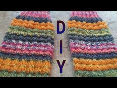 Wabenmuster stricken / für Mützen, Socken etc. • DIY * Julebuergerfee - YouTube