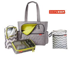 Bolsa Maternidade Diaper Bag Forma Pack & Go Tote Grey Skip Hop Boy Diaper Bags, Large Diaper Bags, Diaper Bag Backpack, Baby Changing Bags, Cool Baby Stuff, Baby Accessories, Baby Items, New Baby Products, Dreams