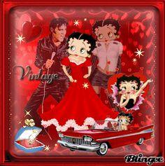 Elvis Presley and Betty Boop