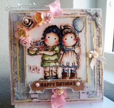 Birthday Tilda and Tilda with balloon, You are so special collection, Magnolia stamps