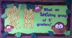 """Ape""aling Jungle Themed Bulletin Boards for the Classroom!"