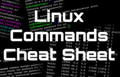 This linux commands cheat sheet should be extremely useful for anyone who is new to Linux based operating systems. If you're interested check it out!
