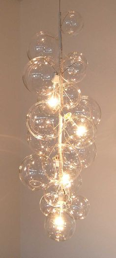 Tall Bubble Chandelier by PELLE. $3,200.00, via Etsy.