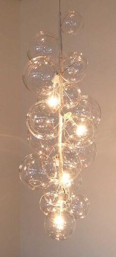 Tall Bubble Chandelier by PELLE. $3,200.00, via Etsy.