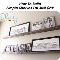 How To Build Simple Shelves For Just $20!