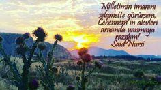 Milletimin imanını selamette görürsem, Cehennem'in alevleri arasında yanmaya razıyım! Said Nursi