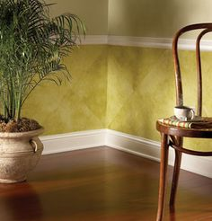Decorative Painting Technique #3: Weathered Wainscot.