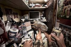 Photographer Benny Lam has documented the suffocating living conditions in Hong Kong's subdivided flats, recording the lives of these hidden communities.  These small, wooden boxes of 15 sq ft, are known as 'coffin cubicles'. Cage homes are minuscule rooms lived in by the poorest people in the cit