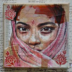 Mixed Media Portraits by Stéphanie Ledoux with from JDzigner… Mix Media, Mixed Media Art, Art Du Collage, Collages, L'art Du Portrait, Ledoux, Creation Art, A Level Art, Identity Art