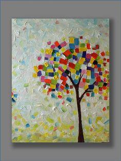 Original Abstract Painting Wonder Tree Contemporary by mgotovac, $129.00