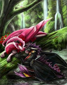 In Your Eyes by silvermoonnw on DeviantArt Mythical Creatures Art, Weird Creatures, Fantasy Creatures, Fantasy Dragon, Fantasy Art, Aliens, Fire Dragon, Flaming Dragon, Got Dragons