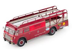 This Fiat 642 RN2 Bartoletti Ferrari Racing Transporter (1957) Diecast Model Lorry is Red and features working steering, suspension, wheels and also opening doors, trailer doors. It is made by CMC and is 1:18 scale. The 1950s and 1960s are known as an era that witnessed a boom of race car transporters, which are being re-discovered today and held in a high regard. The two similar-looking transporters of the Scuderia Ferrari and Maserati might well be the most famous and technically most…