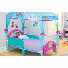 dora bedroom decorations | Dora the Explorer Delta Canopy Toddler Bed - - San Jose Mercury  sc 1 st  Pinterest & Dora the Explorer Canopy Toddler Bed - Delta - Toys