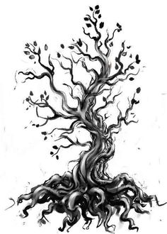 I love trees like this. I would add a watercolor background. As well as symbols for everyone in the family.