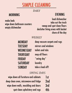 Weekly Cleaning, Household Cleaning Tips, Cleaning Checklist, House Cleaning Tips, Diy Cleaning Products, Cleaning Solutions, Spring Cleaning, Cleaning Hacks, Cleaning Schedules